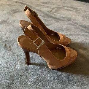 Tan BCBG heels